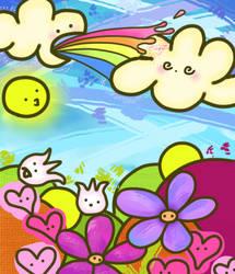 Rainbow Splatter by samana-bunny