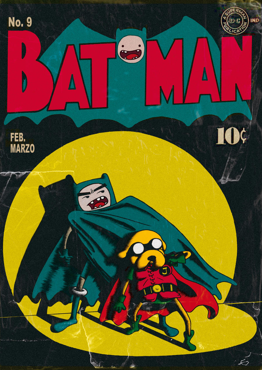Finn and Jake presents: BATMAN by yupiyeyo