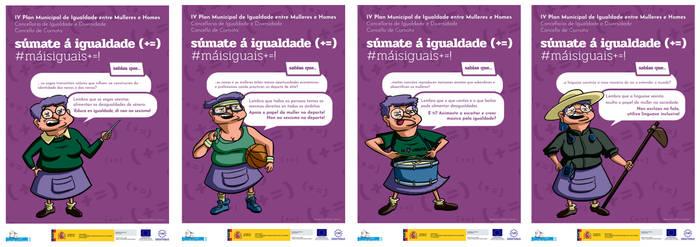 Ilustrations for gender equality campaing
