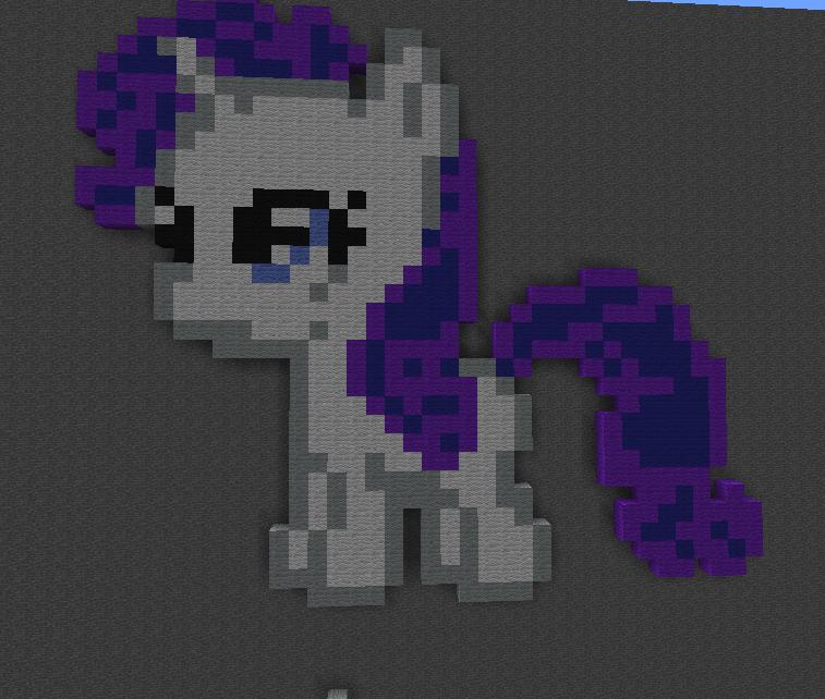 Rarity minecraft pixel art