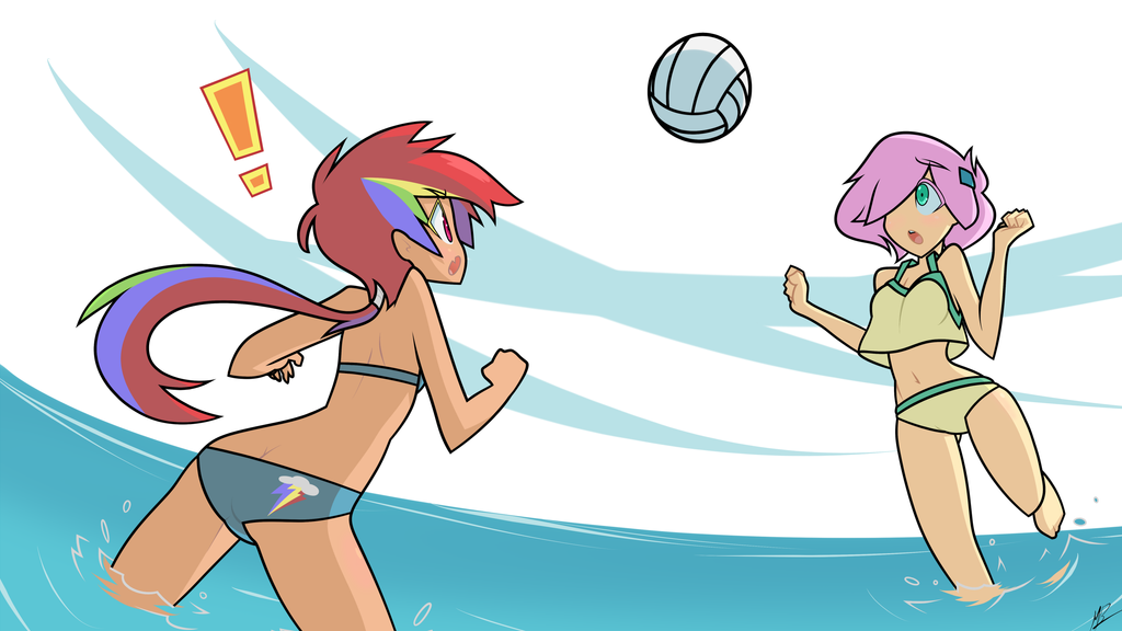 Volleyball Dash and Shy by Mustang-Blaze