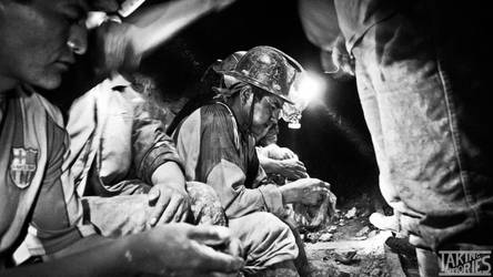 Miners in Bolivia