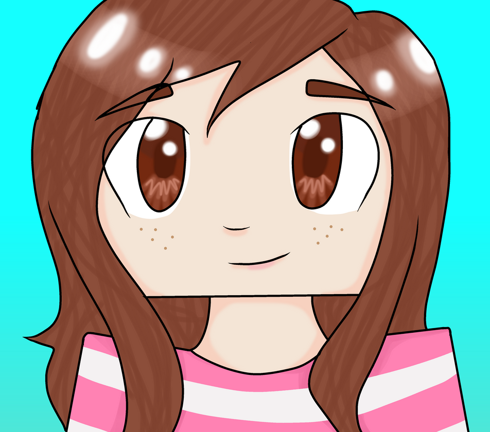 how to draw a minecraft girl