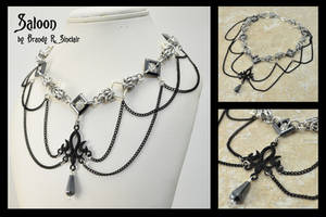 Saloon - Chainmaille Necklace by crazed-fangirl