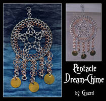 Chainmaile Pentacle Dreamchime by crazed-fangirl