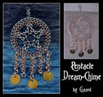 Chainmaile Pentacle Dreamchime