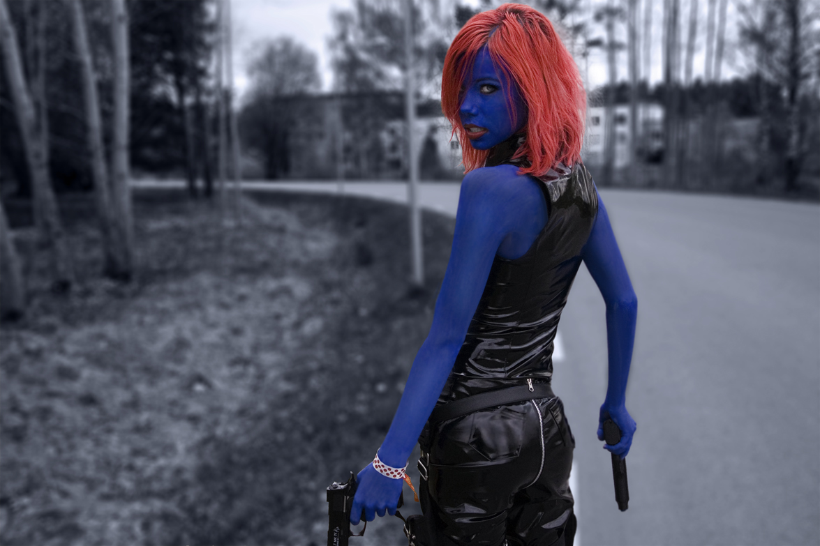 Better picture of my Mystique by Wintersouls
