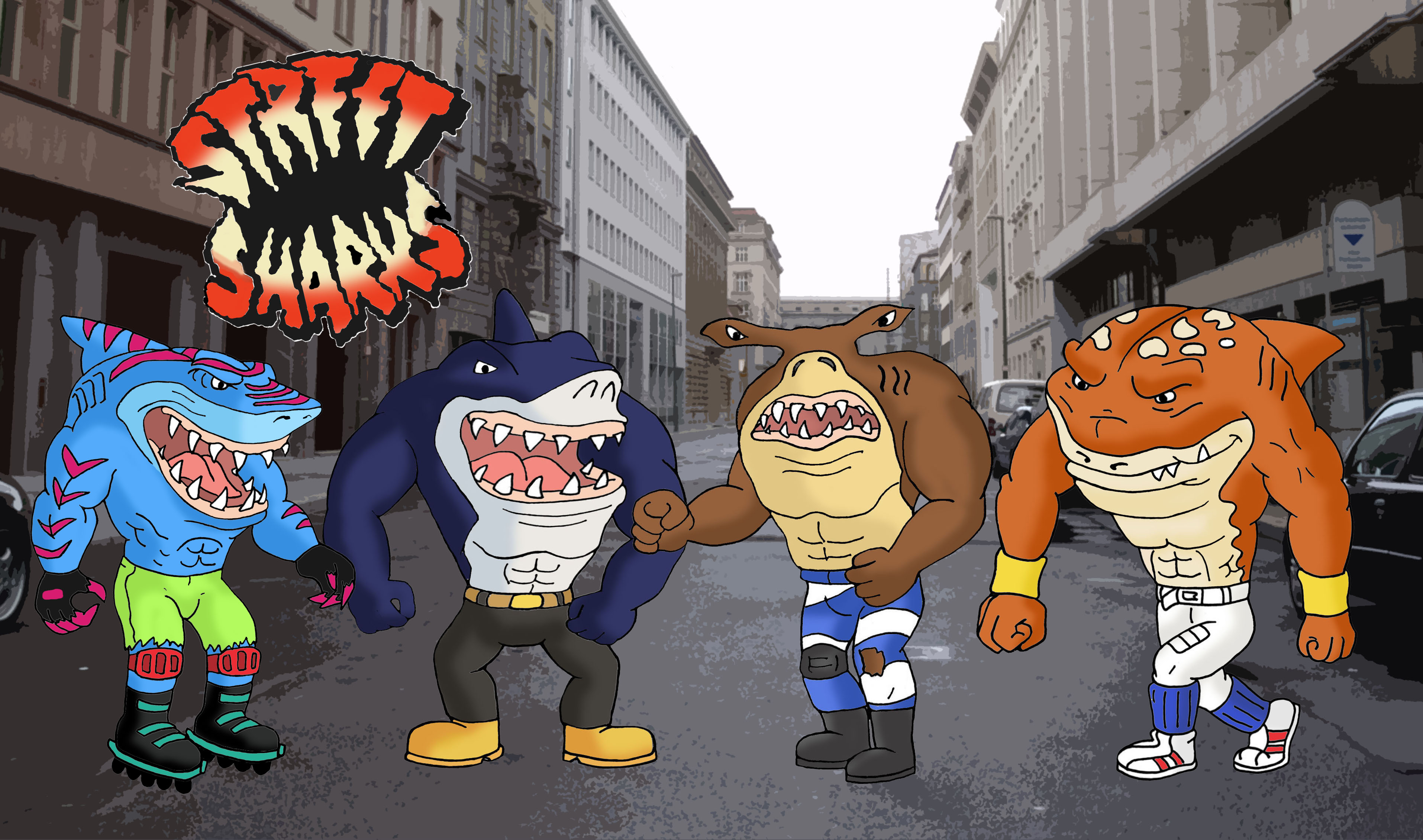Street Sharks by Blank-mange on DeviantArt