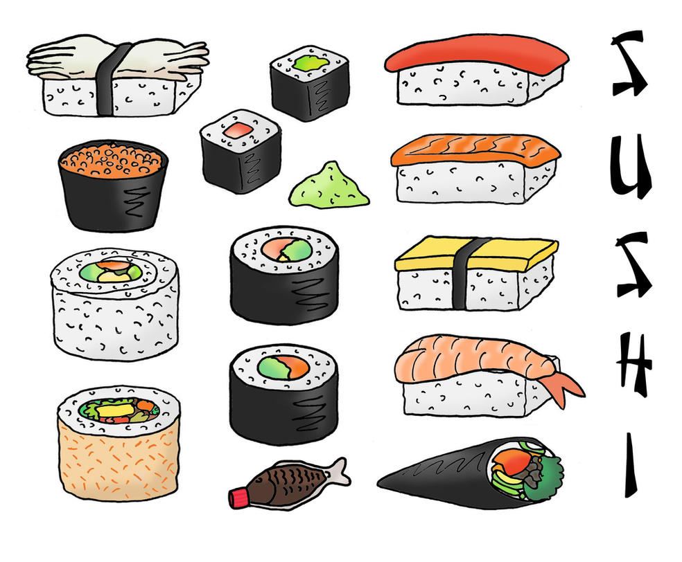 The Gallery For  &gt Cute Drawings Of Sushi