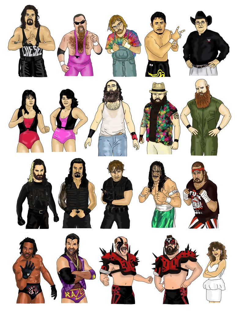WWE Heros 6 by Blank-mange