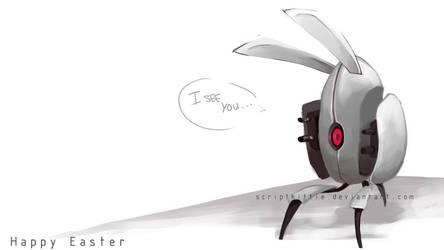 Portal 2 : The Easter Turret by scriptKittie