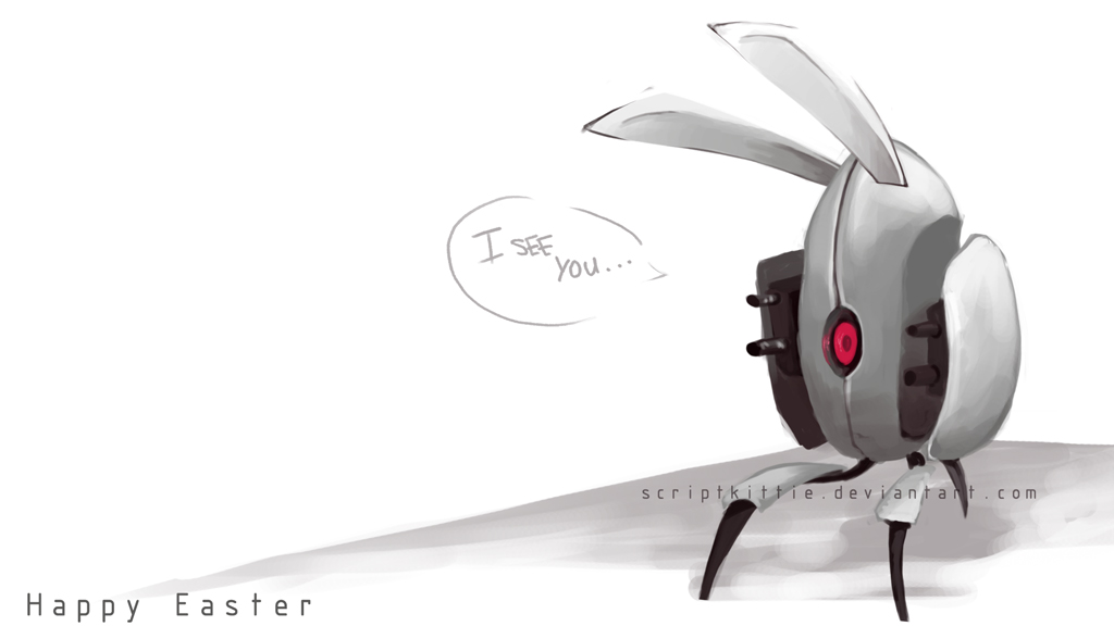 Portal 2 The Easter Turret By ScriptKittie