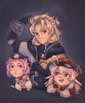 Albedo, Diona and Klee | Genshin Impact by ZeusFirebender