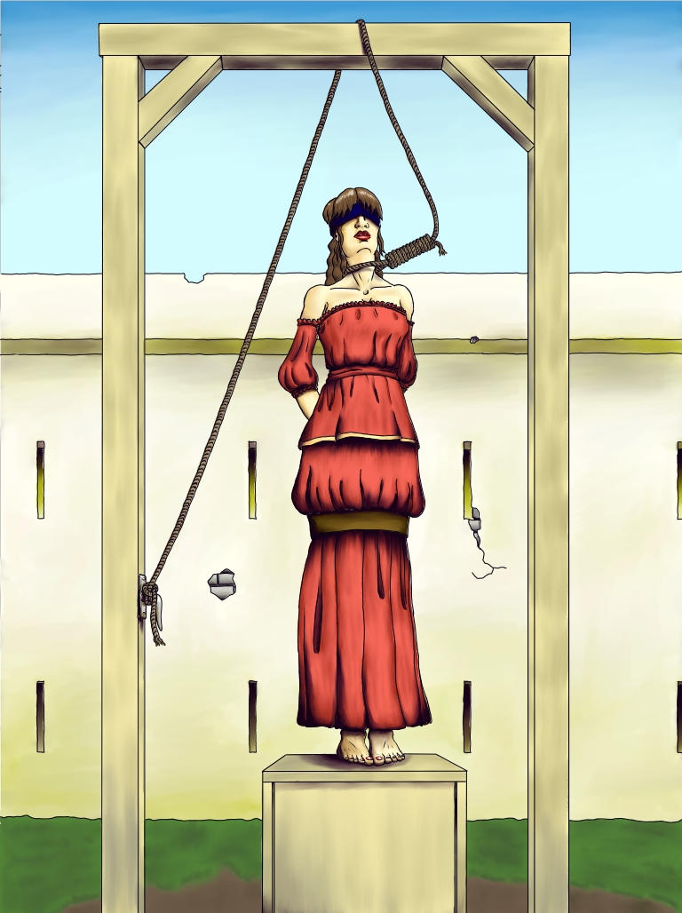 Erotic gallows illustrations