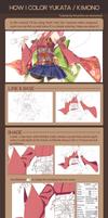 How I color Yukata / Kimono on Paint Tool SAI