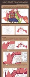 How I color Yukata / Kimono on Paint Tool SAI by KiranKira