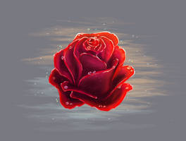 The Rose - Painting 10 by BrownBlurry
