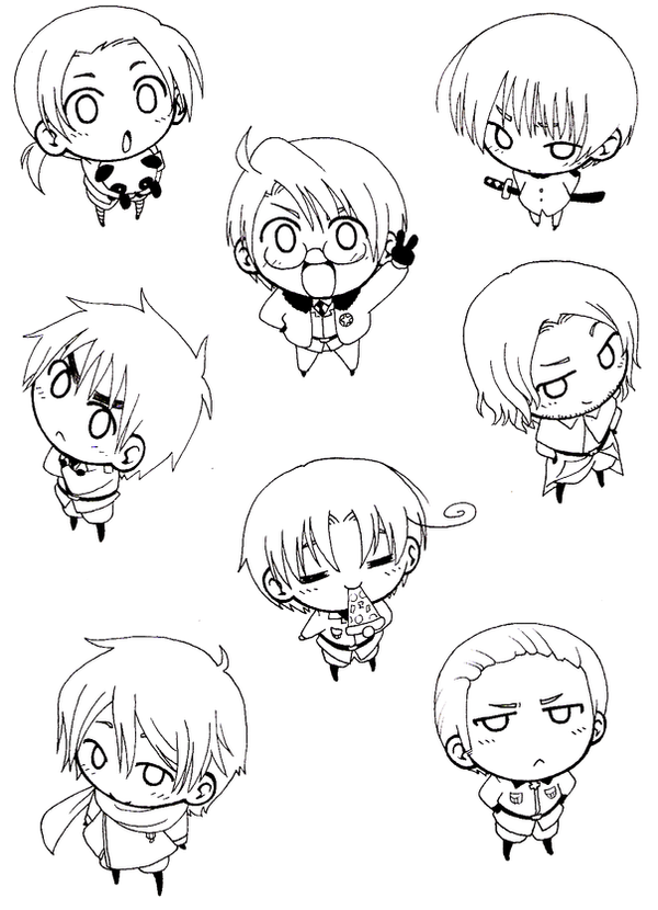 anime hetalia coloring pages - photo#32
