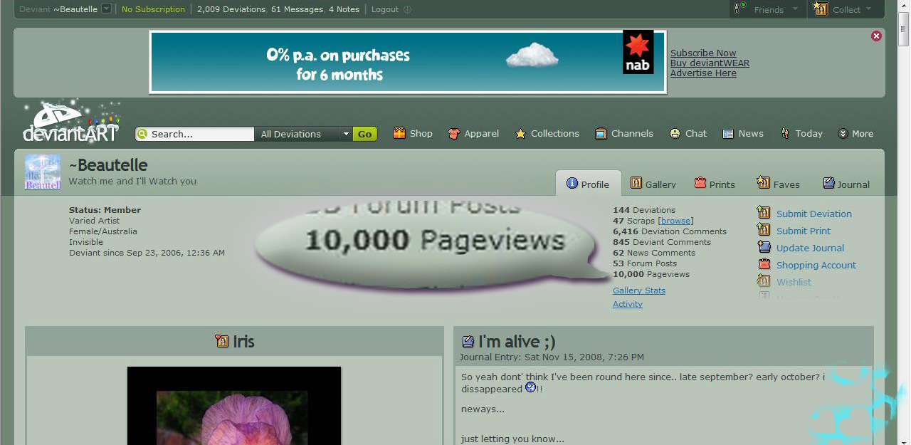 10,000 PAGEVIEW SCREENSHOT by Beautelle