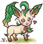 Leafy leafy Leafeon by rose-star