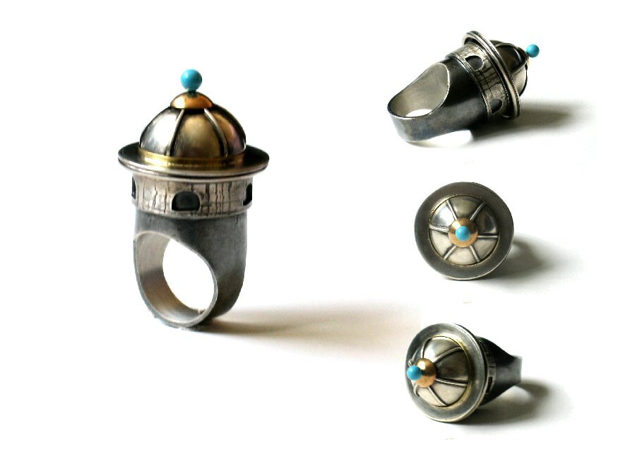 Architectural Ring by silver-zaira