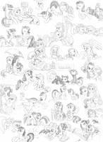 Breakfast Pony Sketch Dump by dstears