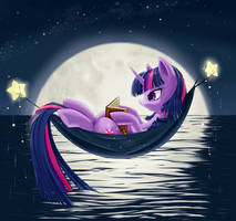 Reading by Moonlight by dstears