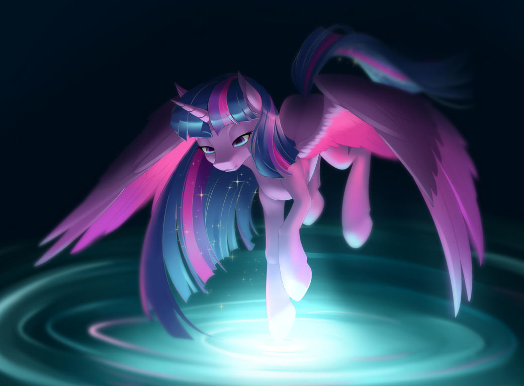 Rainbow Power Twilight Sparkle by dstears