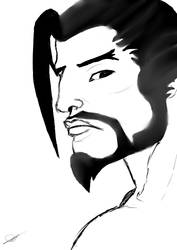 Hanzo Sketch by Magemad2k11
