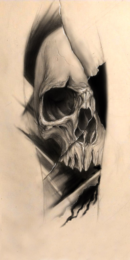 Skull tattoo design by bleftattoo on deviantart for How to design a tattoo