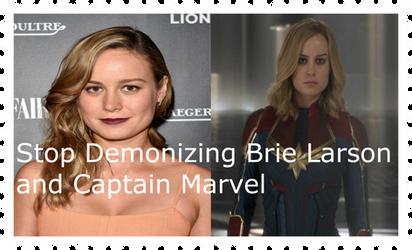 Anti Brie Larson/Captain Marvel Hatedom Stamp