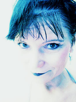 Blue portrait.