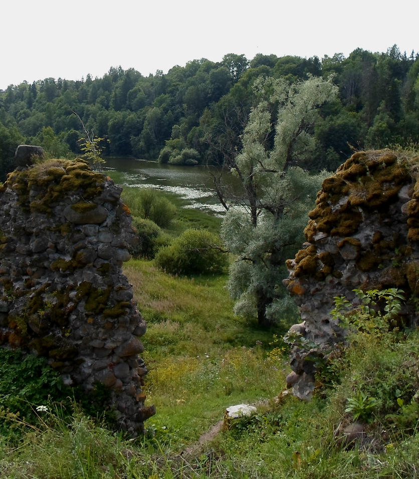 Karksi Castle ruins and moat 143 by MASYON
