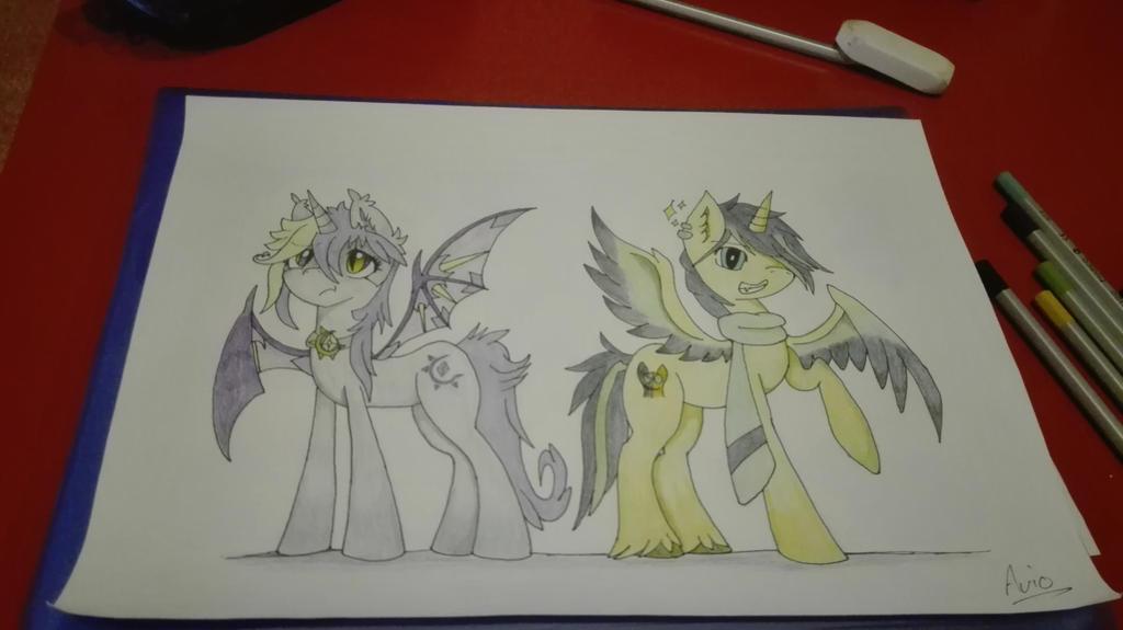 Bat Pony Alicorn by ArioGrimmRe