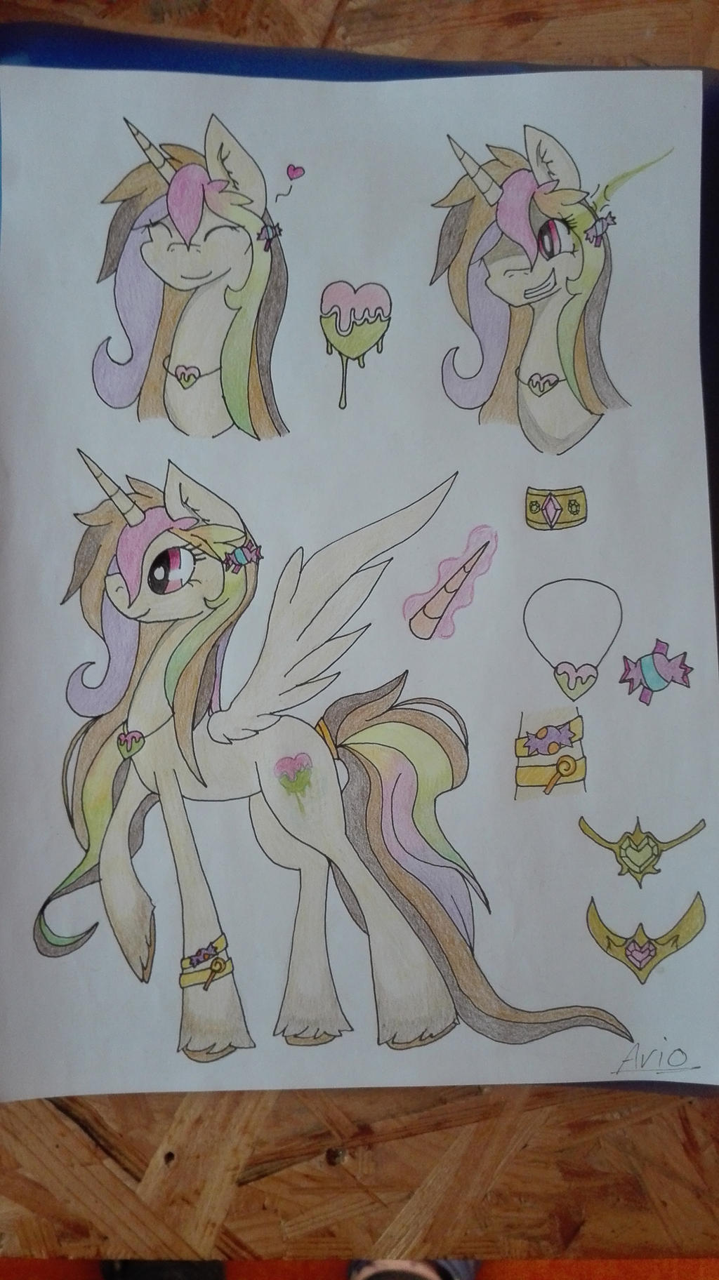 Princess Candy Coat - redesign by ArioGrimmRe