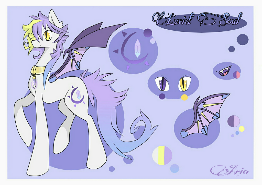 Lucid Soul - new ref. sheet by ArioGrimmRe