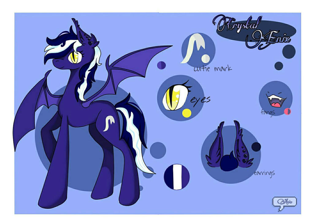 Crystal Enix ref. sheet - request by ArioGrimmRe