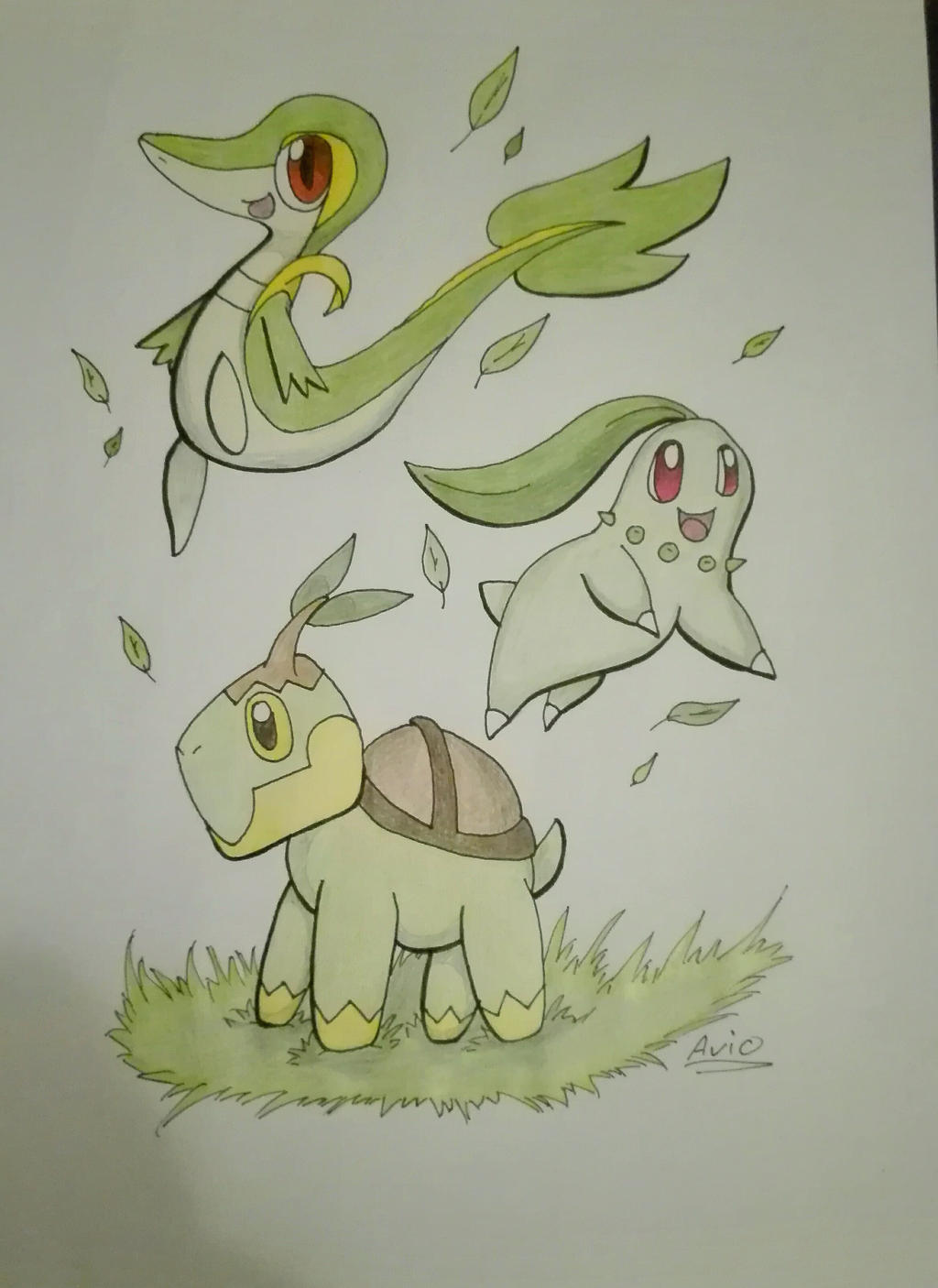 Pokecember day 3: Grass type by ArioGrimmRe