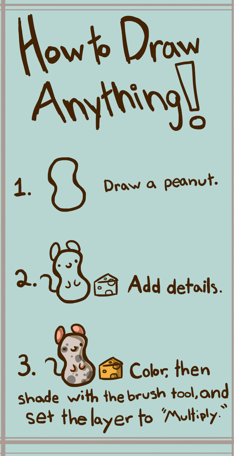 how to draw anything snow
