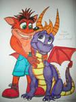 Crash Bandicoot and Spyro the Dragon