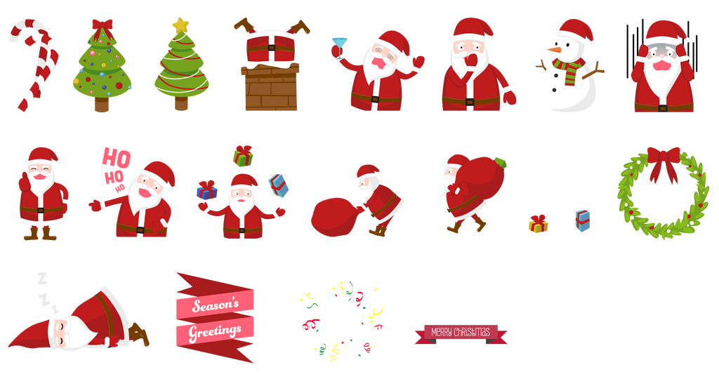Christmas Stickers By Lalabell On Deviantart
