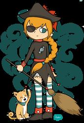 Candy Witch Pirate by Chpiku
