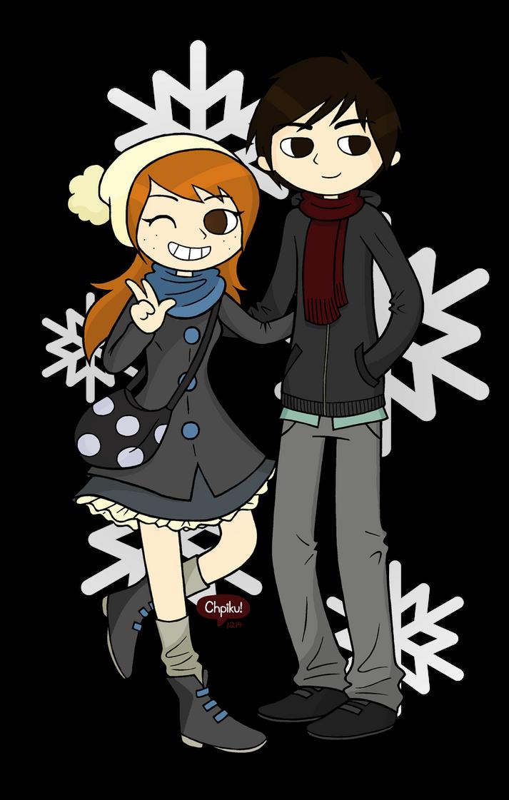 Rachel and Jun by Chpiku