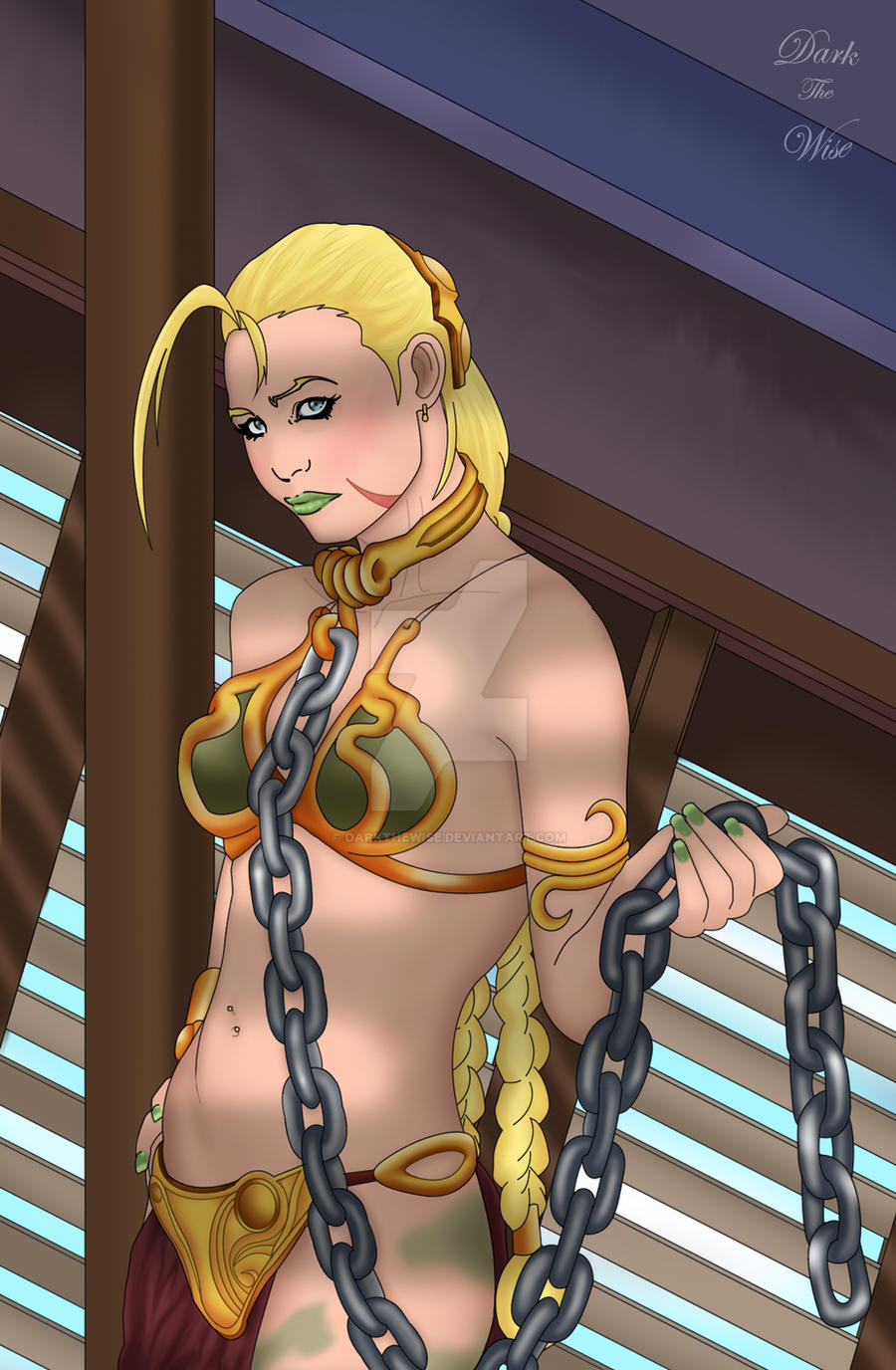 Cammy as Slave Leia by darkthewise