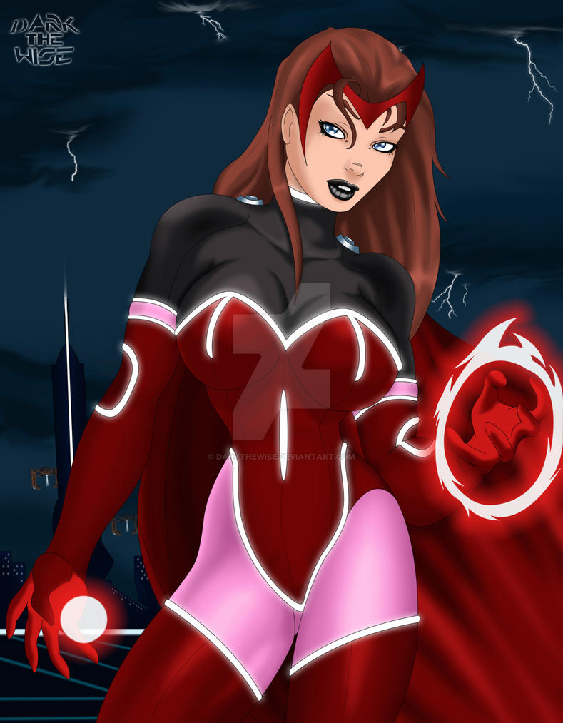 Commission Tron ScarletWitch B by darkthewise
