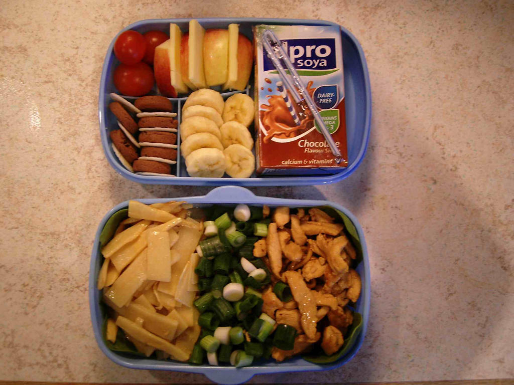 Stir Fry Chicken Noodle Bento by hayleywarner