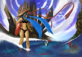 Need summer  - commission - by Keynok