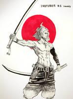Inktober 2017 - Day 6 - sword by Keynok