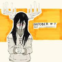 Inktober 2017 - Day 7 - Shy by Keynok