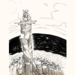 Inktober 2017 - Day 27 -  Climb by Keynok